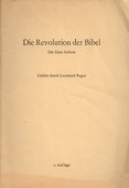 Ragaz, Die Revolution der Bibel