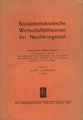 Langer, Sozialdemokratische Wirtschaftstheorien