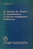 Fogarasi, Der Bankrott der Theorien