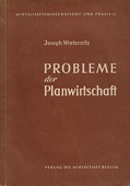 Winternitz, Probleme der Planwirtschaft