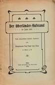 Hopf, Der Oberlaender-Aufstand im Jahre 1814