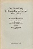Widmeier, Bernische Volksrechte