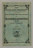 Buchmueller, Die bernische Landschulordnung