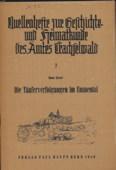 Wuergler, Die Entstehung  des Amtes Trachselwald