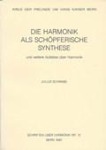 Schwabe, Die Harmonik als schoepferische Synthese