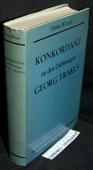 Wetzel, Konkordanz zu den Dichtungen Georg Trakls