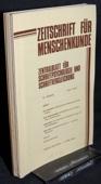 Zeitschrift fuer Menschenkunde, ZfM 1979