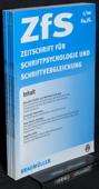 Zeitschrift fuer Schriftpsychologie, ZfS 2000