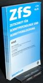 Zeitschrift fuer Schriftpsychologie, ZfS 2001