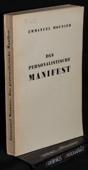 Mounier, Das personalistische Manifest