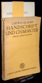 Klages, Handschrift und Charakter