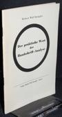 Spengler, Der praktische Wert der Handschrift-Analyse