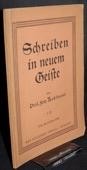 Kuhlmann, Schreiben in neuem Geiste [1/2]