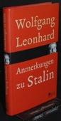 Leonhard, Anmerkungen zu Stalin