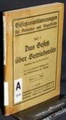 Aufhaeuser, Das Gesetz ueber Betriebsraete
