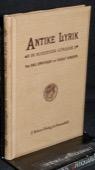 Ermatinger / Hunziker, Antike Lyrik