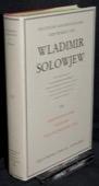 Solowjew, Erkenntnislehre. Aesthetik. Philosophie der Liebe