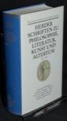 Herder, Schriften 1774 - 1787