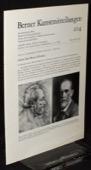 Berner Kunstmitteilungen 204, Anker ueber Berner Kuenstler