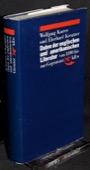 Karrer / Kreutzer, Daten der englischen und amerikanischen Literatur