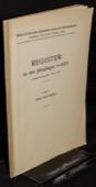 Blaetter fuer bernische Geschichte, Register 1905-1929