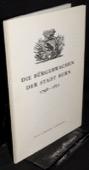 Markwalder, Die Buergerwachen der Stadt Bern