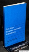 Buerger, Studien zur franzoesischen Fruehaufklaerung