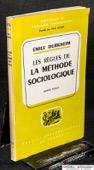 Durkheim, Les regles de la methode sociologique