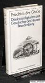 Friedrich II, Denkwuerdigkeiten zur Geschichte des Hauses Brandenburg