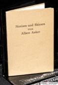 Aeberhardt, Notizen und Skizzen von Albert Anker