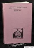 Wissenschaftszentrum NRW, Kulturwissenschaftliches Institut. Bericht 1991