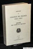 Annuaire, du College de France 1982-1983