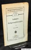 Thilo, Leibniz's Religionsphilosophie