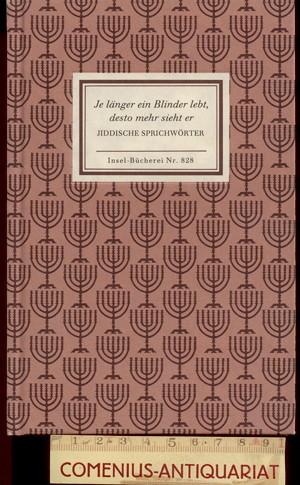 Artmann .:. Jiddische Sprichwoerter