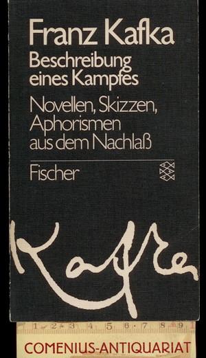 book interpretation franz kafkas beschreibung eines kampfes