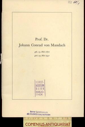 Nachruf .:. Conrad von Mandach
