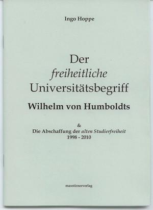 Hoppe .:. Der freiheitliche Universitaetsbegriff