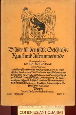 Grunau .:. Blaetter fuer bernische Geschichte 13/3