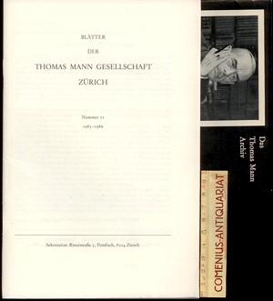 Blaetter der .:. Thomas-Mann-Gesellschaft 21/1986