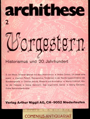 archithese 2 .:. Vorgestern. Historismus