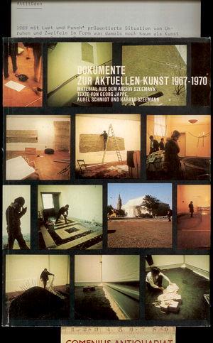 Jappe / Schmidt / Szeemann .:. Dokumente zur aktuellen Kunst