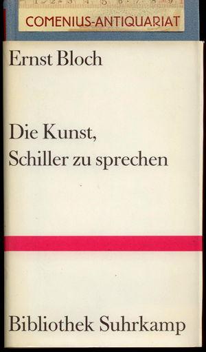 Bloch .:. Die Kunst, Schiller zu sprechen