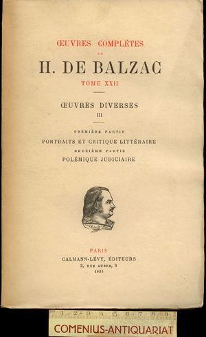 Balzac .:. Oeuvres diverses [3]