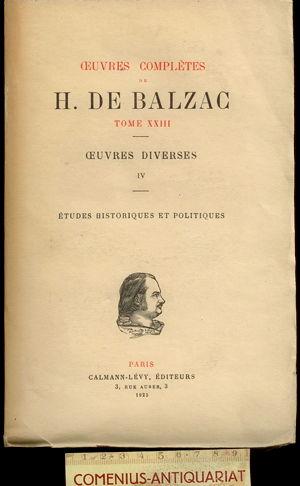 Balzac .:. Etudes historiques et politiques
