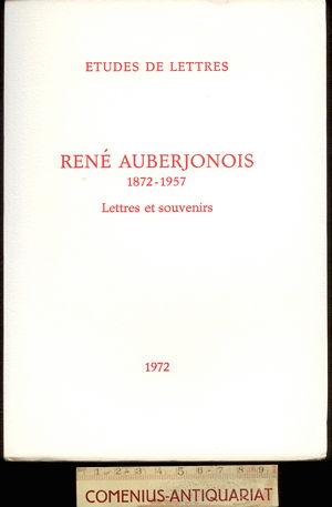 Auberjonois .:. Lettres et souvenirs