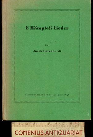 Burckhardt .:. E Haempfeli Lieder