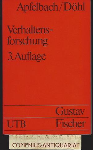 Apfelbach / Doehl .:. Verhaltensforschung