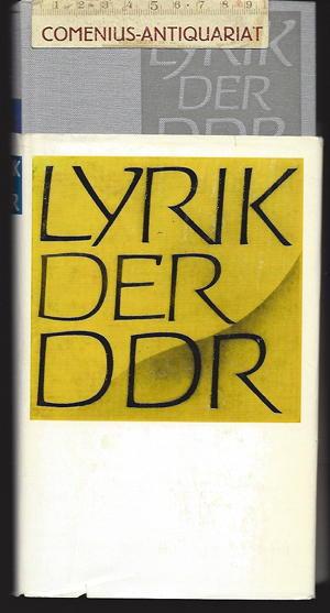 Berger / Deicke .:. Lyrik der DDR