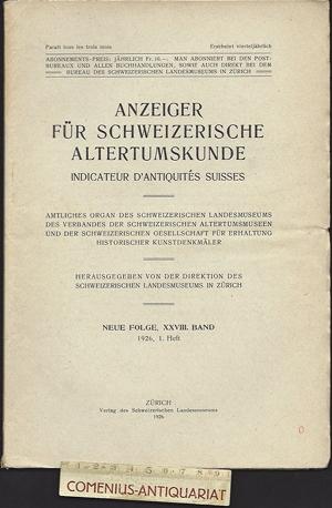 Anzeiger .:. Schweizerische Altertumskunde 28/1