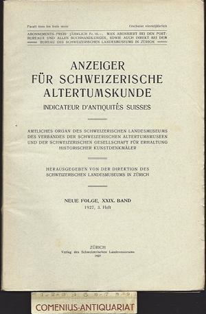 Anzeiger .:. Schweizerische Altertumskunde 29/3